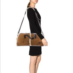 Shearling & Leather UGG  tote antiqued brass